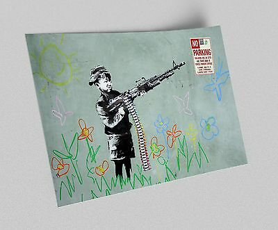 ACEO Banksy Batman Arrest Graffiti Street Art on Canvas Giclee Print