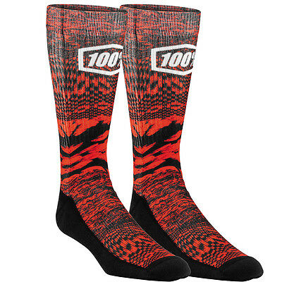 100 Percent NEW Bionic Skate Sock Pair Athletic BMX MTB 100% Viper Red Socks