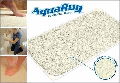 Non Slip Shower Bathroom Bath Aqua Rug Mat Carpet Water Drains Doormat New
