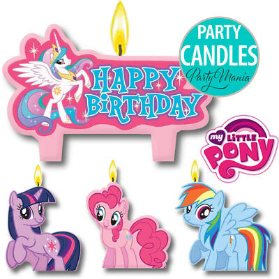 My Little Pony Girls Birthday Party Supplies Decorations Cake Candles Pack 4