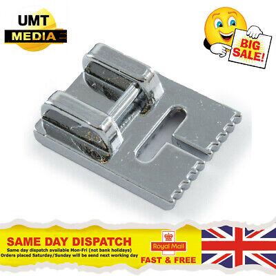 9 GROOVE PINTUCK FOOT - For Domestic Sewing Machines Snap on Stitch Presser UK