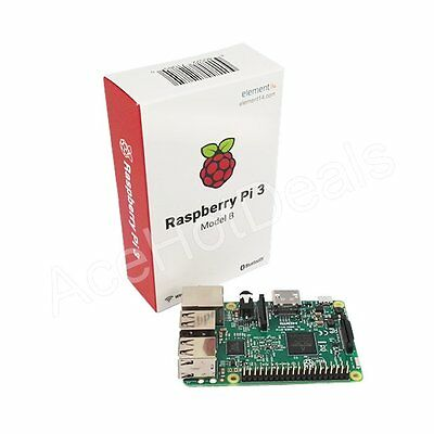 Raspberry Pi 3 Model B Brand New 2016 Wifi + Bluetooth 64bit 1.2GHz QuadCore