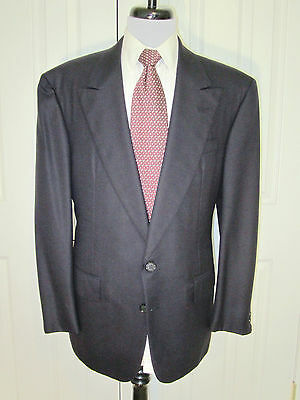 $1200 Chester Barrie Navy Super 100S Wool Sport Coat Made In England 41 R