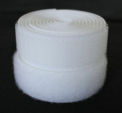 White 20mm Sew-on Hook & Loop tape Alfatex® Brand - various lengths available