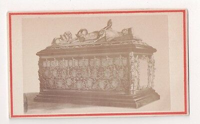 Vintage CDV Tomb Charles The Bold Church Our Lady of Bruge Daveluy & Sons Photo