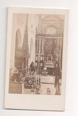 Vintage CDV Cathedral Choir Cathedral of Our Lady Antwerp Belgium