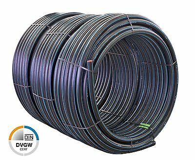 "Quarzflex® PE Rohr Trinkwasser DVGW PN16 PE100 Made in Germany 1/2"" - 3/4"" - 1"""