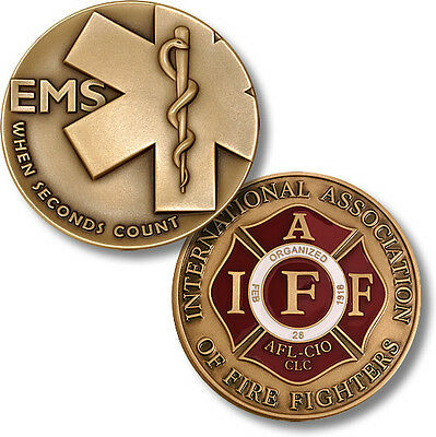 """Emergency Medical Services / """"When Seconds Count"""" - EMS IAFF Fire Challenge Coin"""