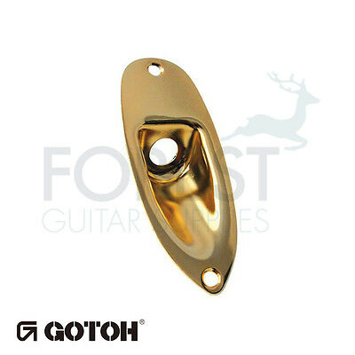 Gotoh JCS1 Strat® style jack plate gold, with screws
