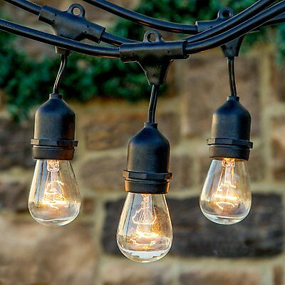 Outdoor Vintage Style Edison Hanging String Lights Weatherproof Commercial New