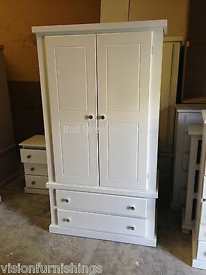 New Megan Hand Made 2 Drawer Wardrobe Ready Assembled No Flatpack