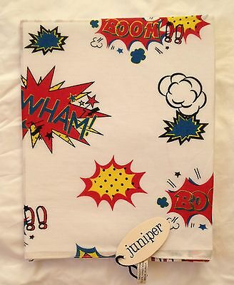New 100% Cotton Unisex Pop Art Comic Book Print Scarf By Juniper