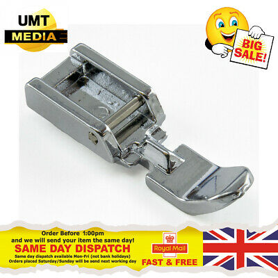ZIPPER FOOT Narrow - For Domestic Sewing Machines Snap on Stitch Presser UK