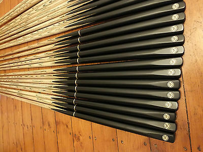 ADR147 Snooker and Pool cues in Ebony