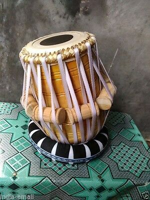 "New Handmade Tabla Dayan Drums Wood Body 5"" E# Goat Skin Set Of 2 Great Sound"