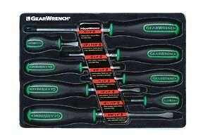 New! Gearwrench 8pc Combination Tri-Lobe Ergonomic Screwdriver Set Green #82683