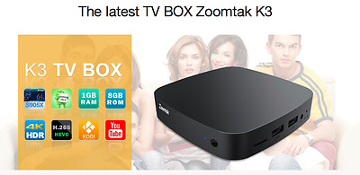 Zoomtak K3 Android 6.0 64 Bit S905X 4K Box - Free Next Day Delivery in Ireland!