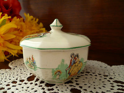 Vintage Tea Set Size Sugar Bowl Crinoline Lady Empire Ware Made In  England