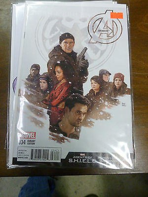 AVENGERS #34 variant PAOLO RIVERA 1:10 AGENTS OF SHIELD cover new unread