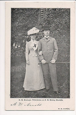 Vintage Postcard Queen Wilhelmina of Netherlands & Prince Hendrik of Mecklenburg
