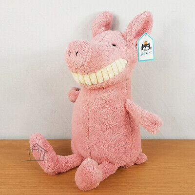 NEW Jellycat Toothy Pig Large 36cm Pink Toy Stuffed Jelly Cat Huge Smile Grin