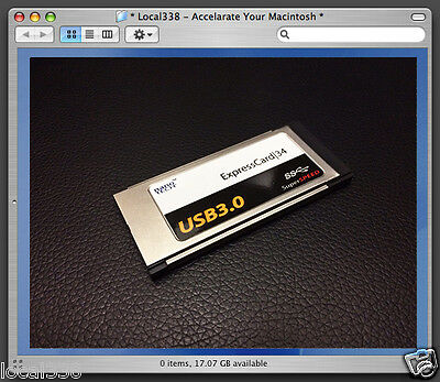 "2 Port USB 3.0 ExpressCard|34 Adapter For Apple MacBookPro 15""/17"" *OSX 10.8.2+"