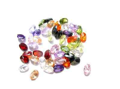 Cubic Zirconia Oval AAA Multi-Color CZ Loose Stones Lot (4x3mm - 18x13mm)