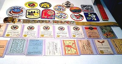 Vintage Boy Scouts Canada Camping Patches Paper Merit Badge Scouting Collectible