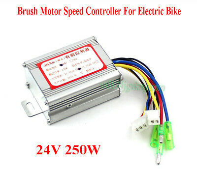 24V 250W Brush Motor Speed Controller For Electric Bike E-bike Bicycle Scooter