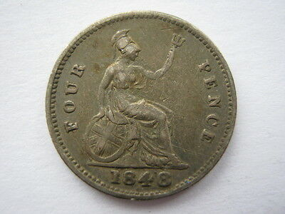 1848/6 Groat or Fourpence VF