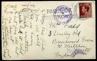 BRITISH MAIL POSTED AT SEA' RMS Latitia London FS PAQUEBOT