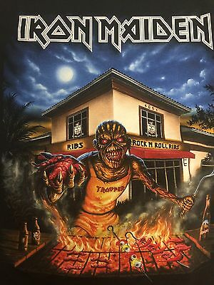 Iron Maiden Ft Lauderdale Florida 2016 Event Shirt Eddie Nicko L Large
