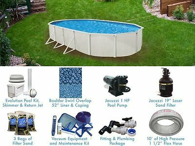 Esprit 12' x 18' ft Oval Standard Above Ground Pool Complete Package