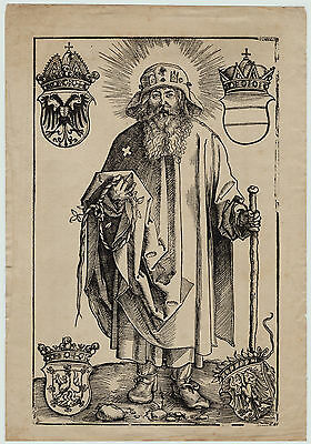 RARE?  - Albrecht Durer - Antique German Woodcut Print - Old Master German