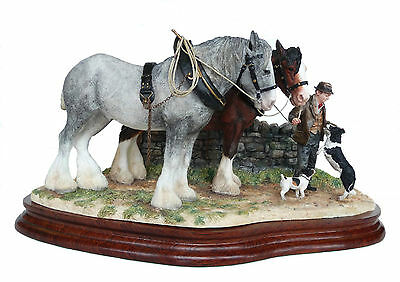 NEW Border Fine Arts Clydesdale Horses Homeward Bound Classic Piece By Anne Wall