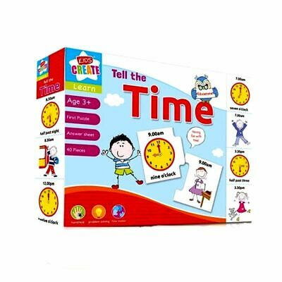 Early learning Children LET'S LEARN Alphabet Numbers Time Spell Puzzle Jigsaw