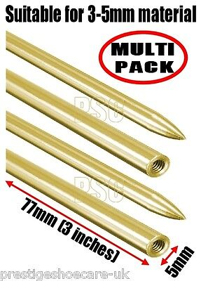 2 x Paracord Needles Threading Needle Leather Laces Deck Shoes FID BRASS