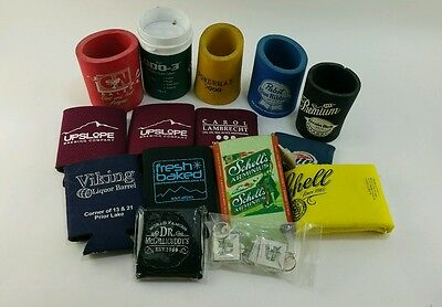 Lot (18) Assorted Can Coozies Budweiser NFL Pabst Blue Ribbon Schells Smirnoff