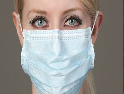 10 Disposable Quality Surgical Face Salon Cleaning Flu Dust Mask Earloop Ce Mark