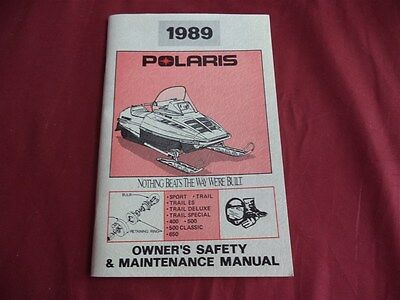 1989 Polaris Owner's Safety and Maintenance Manual