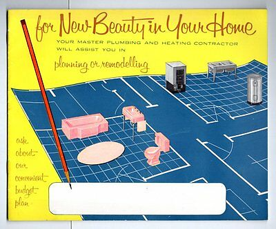 FOR NEW BEAUTY IN YOUR HOME YOUR MASTER PLUMBING HEATING 1960s Plumber COLOUR