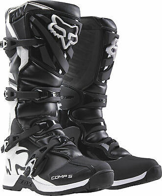 New 2017 Fox Racing Comp 5 Youth Mx Offroad Boots Black All Sizes- Youth
