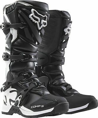 New 2018 Fox Racing Comp 5 Youth Mx Offroad Boots Black All Sizes- Youth