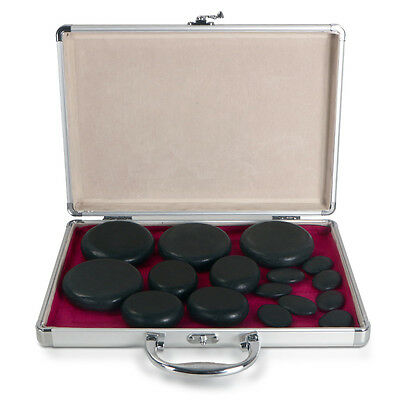 16pcs Hot Stone BackPain Relief Back Massager Hot Stones Massager Kit Stone Warm