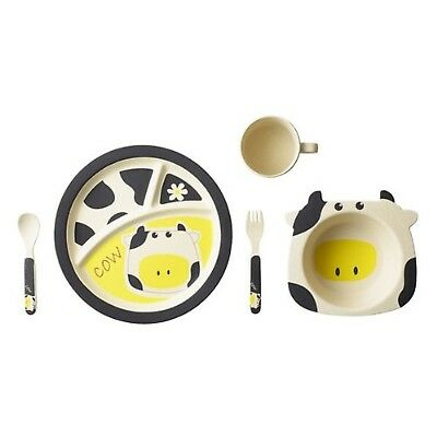 EcoBamboo Ware Kids Dinnerware Set, Cow, FDA Approved, BPA Free