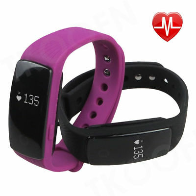 Bluetooth 4.0 Smart Wristband Fitness Tracker with HeartRate Sleep Monitor 107HR