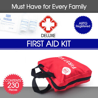 230 Pieces First Aid Kit-Must Have for Every Family  & ARTG Registered