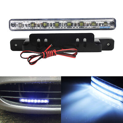 2x 8 LED Daytime Running Light Car Driving Front Fog Lamp DRL 7000K White 12V UK