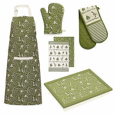 Kendal Kitchen Oven Gloves Tea Towels Apron Dinner Serving Lap Tray Matching New