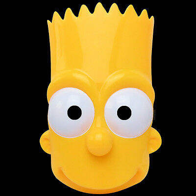 Adult Bart Simpson Mask The Simpsons Cosplay Costume Fancy Dress Halloween
